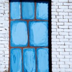 Painted window in the Beaches, Toronto 2011-03-30