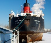 The Canadian Miner docked in the ship channel, Toronto 2011-02-22