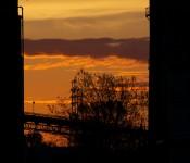 Orange sky in the Port Lands, Toronto