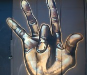 Hand signs on Augusta Avenue, Toronto 2011-05-24