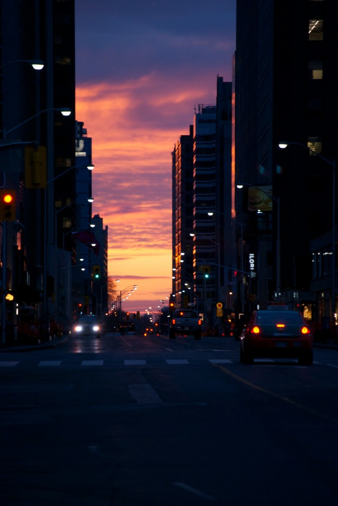 Daybreak on Bloor Street, Toronto 2011-04-29
