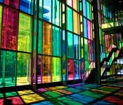 Kaleidoscopic view of the Palais des congrès, Montréal 2011-05-30