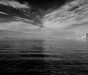 Lake Ontario photographed from Polson Pier, Toronto 2011-04-25