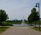 Fountain at Woodbine Park, Toronto 2011-06-20