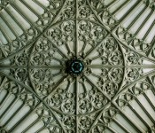 Ceiling of the archway through Soldiers' Tower at the University of Toronto 2011-06-06