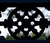 Ironwork on Osgoode Hall gates, Queen Street West, Toronto 2011-09-02