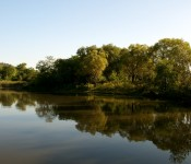 Morning reflection in Dunker's Flow Balancing System at Bluffer's Park, Toronto 2011-09-22