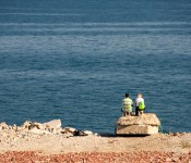 Couple in Tommy Thompson Park, Toronto 2011-10-08