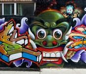 Mural behind Queen Street West, Toronto 2011-05-26
