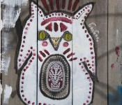Painted character near Kensington Avenue, Toronto 2011-09-18