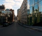 Looking down rue Saint-Urbain, Montréal 2012-02-19