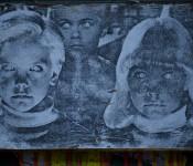 Kid faces on boulevard Saint-Laurent, Montréal 2012-02-19