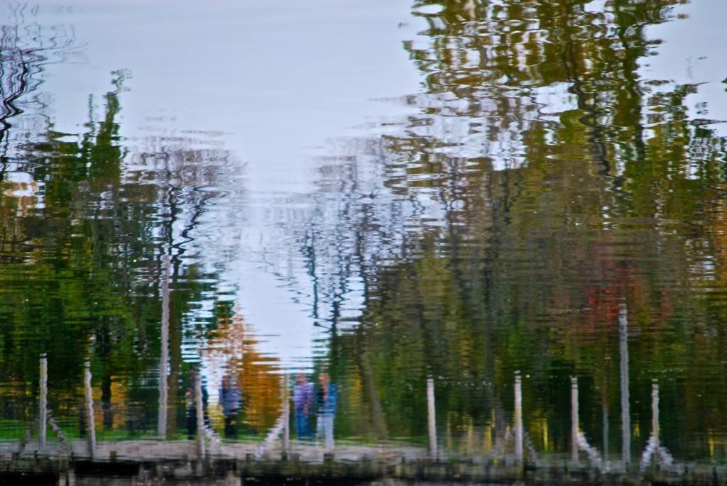 Scene reflecting in Ashbridge's Bay, Toronto 2010-10-11