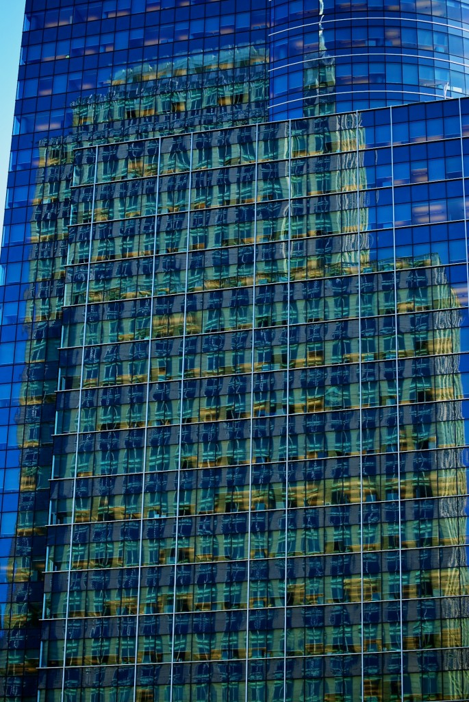 Reflections in E-Commerce Place, René-Lévesque Boulevard West, Montréal 2011-05-30