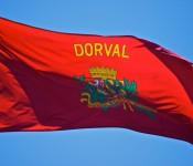 Dorval flag in Neptune Park, Dorval 2012-06-05