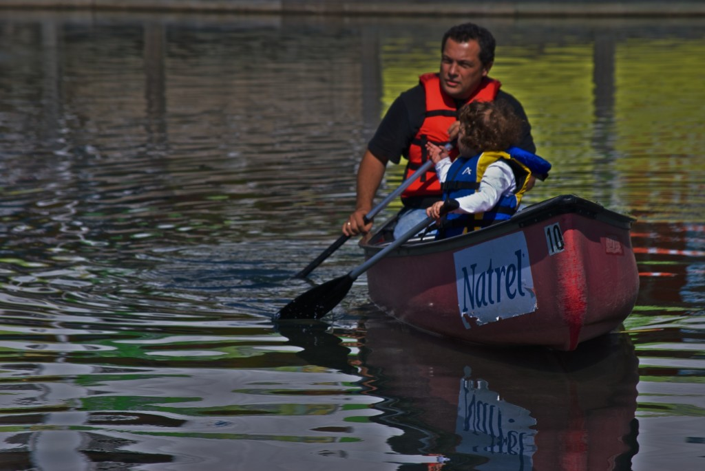 Canoeing near Harbourfront in Toronto 2011-09-24