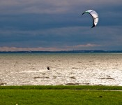 Kite-surfing in Baie de Valois, Dorval 2012-10-15