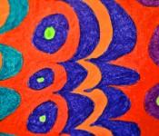 Close-up of sketchbook doodle 7 of 95