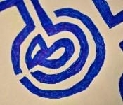 Close-up of sketchbook doodle 8 of 95