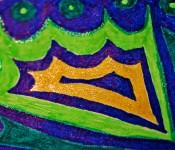 Close-up of sketchbook doodle 11 of 95