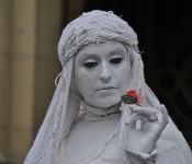 Street performer in Santiago, Chile 2012-11-30