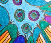 Close-up of sketchbook doodle 21 of 95