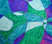 Close-up of sketchbook doodle 23 of 95