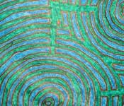 Close-up of sketchbook doodle 24 of 95