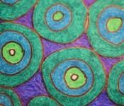 Close-up of sketchbook doodle 27 of 95