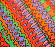 Close-up of sketchbook doodle 38 of 95