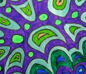 Close-up of sketchbook doodle 43 of 95