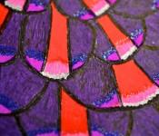 Close-up of sketchbook doodle 45 of 95