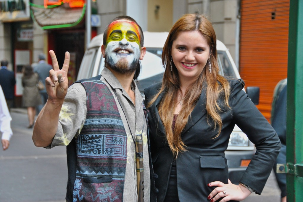 Street performers in Santiago, Chile 2012-11-30