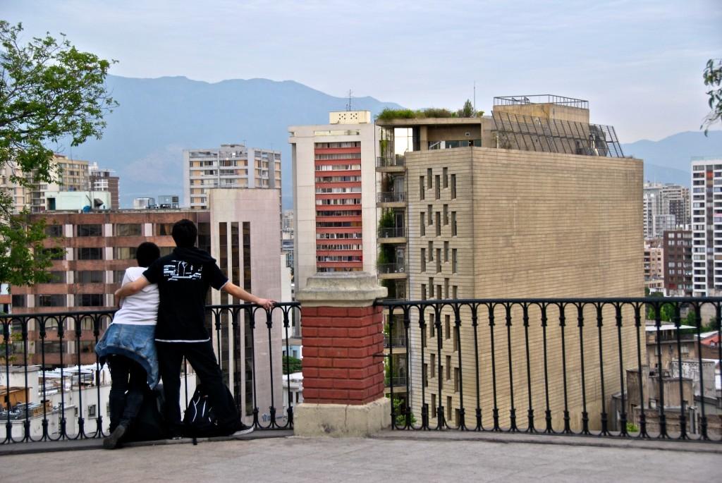 Couple enjoying the view, Cerro Santa Lucia, Santiago, Chile 2012-11-30