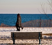 Strolling along Woodbine Beach, Toronto 2011-02-15