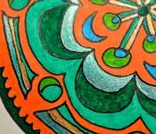 Close-up of sketchbook doodle 49 of 95