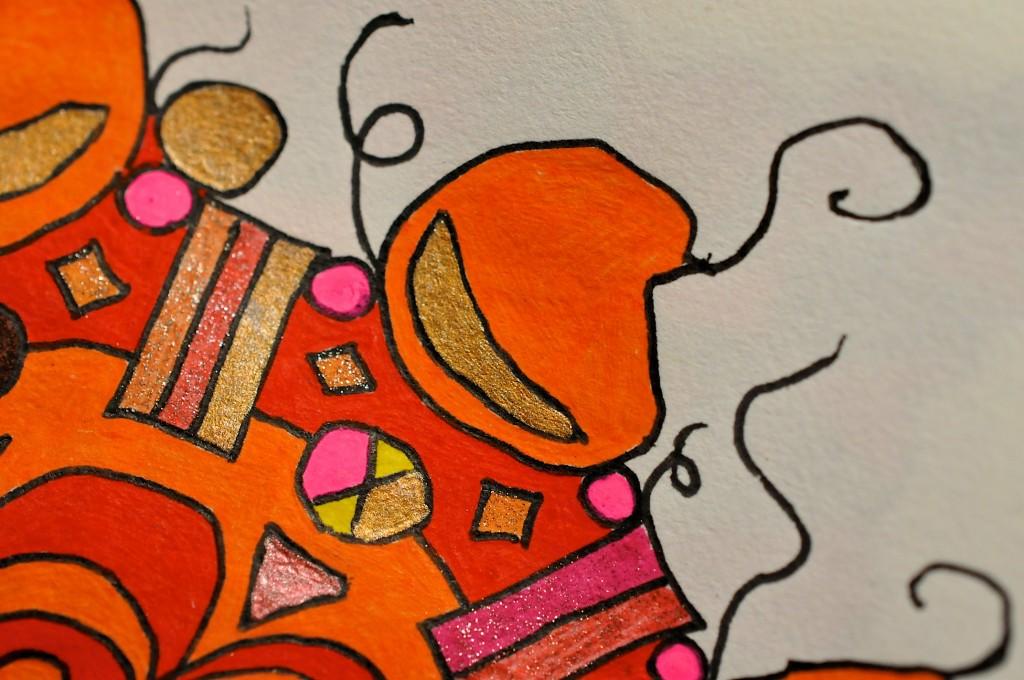 Close-up of sketchbook doodle 50 of 95