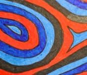 Close-up of sketchbook doodle 53 of 95