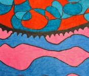Close-up of sketchbook doodle 54 of 95