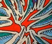 Close-up of sketchbook doodle 55 of 95