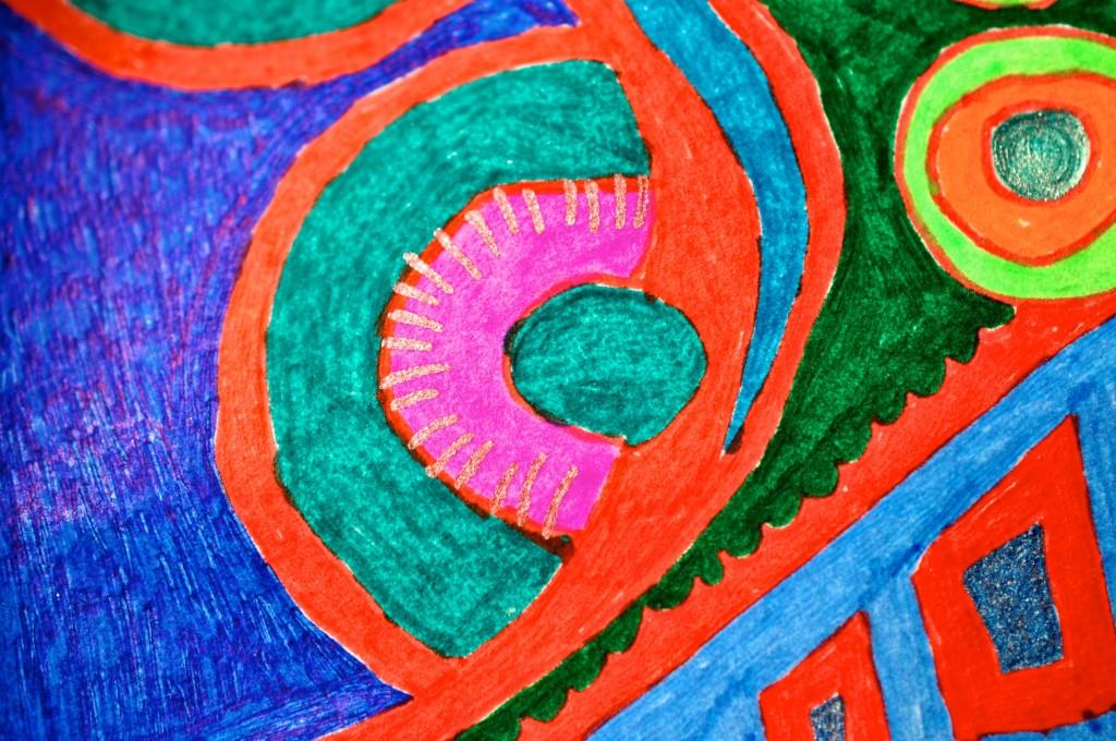 Close-up of sketchbook doodle 59 of 95