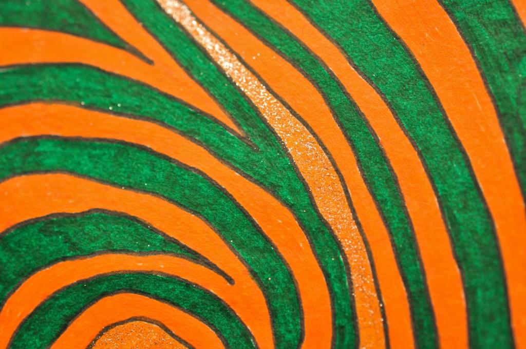 Close-up of sketchbook doodle 63 of 95