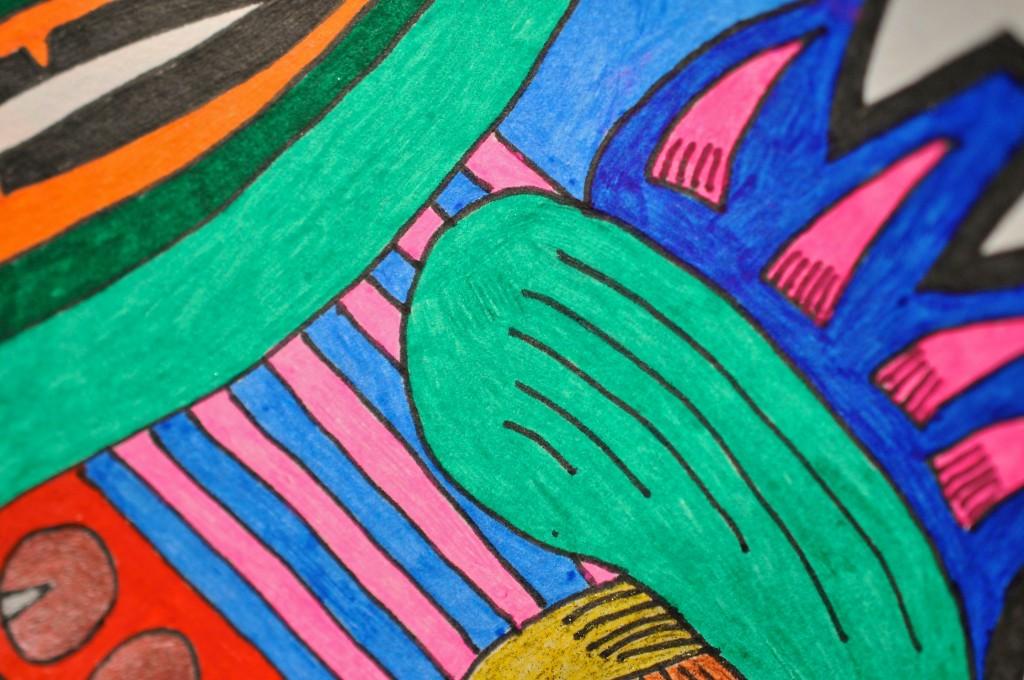 Close-up of sketchbook doodle 65 of 95