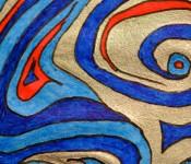 Close-up of sketchbook doodle 75 of 95