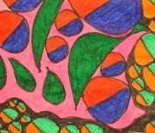 Close-up of sketchbook doodle 76 of 95