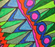 Close-up of sketchbook doodle 77 of 95