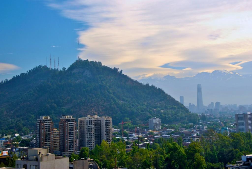 A view of Cerro San Cristóbal [Santiago, Chile 2012-12-01]