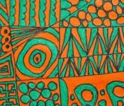 Close-up of sketchbook doodle 83 of 95