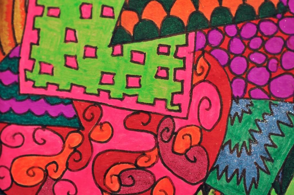 Close-up of sketchbook doodle 87 of 95