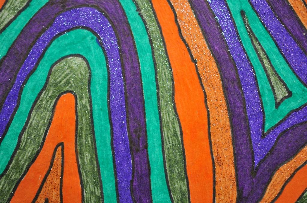 Close-up of sketchbook doodle 89 of 95